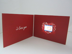 romantic video card mailer production