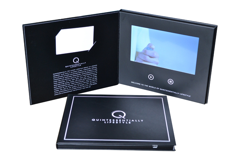 LCD Book with kiss cut business card