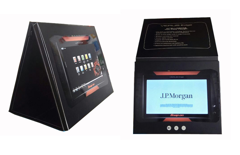 video stand alone kiosk folder for lobbies LCD monitor