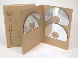 Tall multidisc jacket for three discs multidisc set packaging