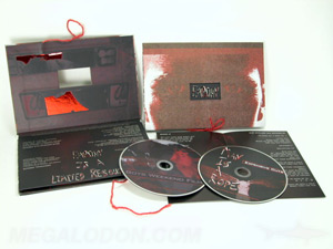 creative cd design packaging string window 2disc set