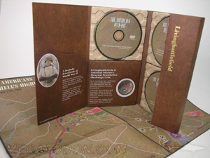 custom dvd digipak paper trays curved literature pocket
