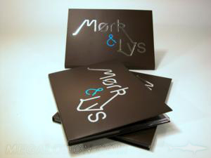 custom digipaks wide horizontal tray foil stamping