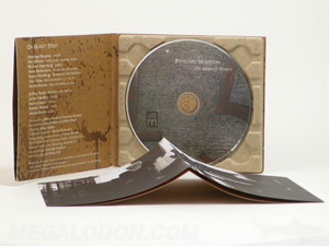 fiberboard digipak with 4C/4C printing reverse side of paper