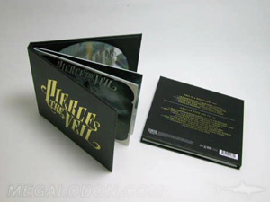 Custom CD Packaging CD Book with inner pages stapled to spine
