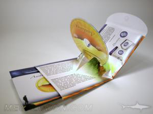 PopUp CD Pack with pocket for literature 3D CD fold out packaging