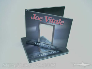 CD book with silver foil and tray