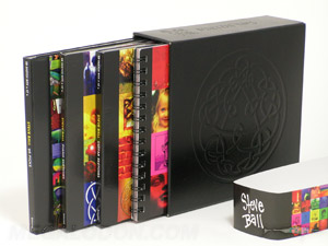 CD Box Set, Chipboard slipcase with vinyl material wrap and deboss, multidisc set packaging, 5inch height