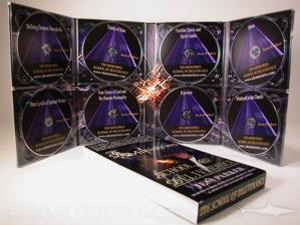 Multidisc set packaging for 8 discs cd or dvds eight trays