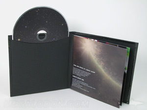 Hard bound CD album cover packaging