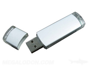 usb drive white with up to 3 color printing silkscreening