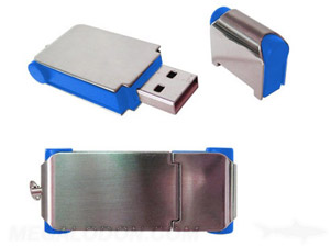 blue and metal usb case manufacturing