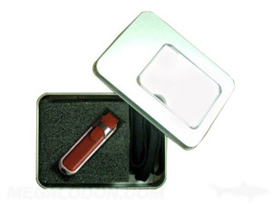 leather case usb with gift box packaging
