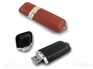 usb thumb drive with leather case pull off top