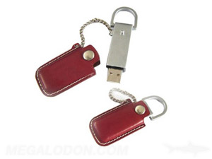leather usb case with chain