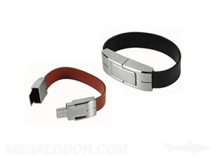 leather usb wrist band bracelet