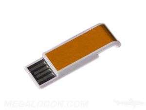 bronze orange usb thumb drive