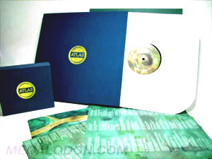 CD vinyl box sets linen fabric wrapped foil stamping art cards