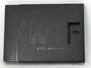Creative CD Packaging slipcase die cut lettering