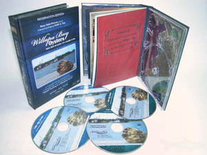 multi disc book set 4dvd hard bound cover book packaging