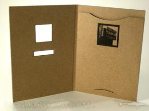 creative cd packaging design die cut fiberboard