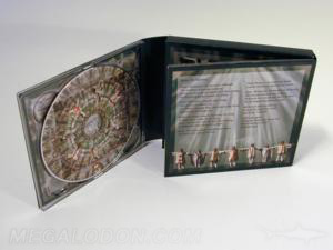 Cross shaped cd packaging, unique folding for 4 disc set