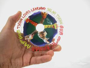 Custom cd clear substrate transparent disc manufacturing creative cd