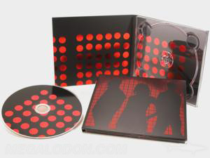 custom digipak red foil matte lamination