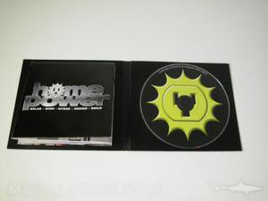 custom cd packaging Black Foam Hub on 4pp jacket with glued on poster