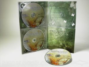 3disc multi disc set packaging 4pp 10inch tall digipak with foam panel