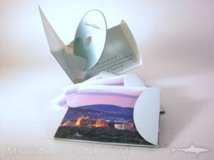 Unique cd packaging cd wedding invitation pop up pack