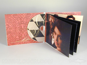 cd jacket with glued booklet