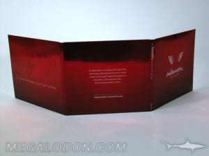 6pp jacket trifold with red foil paper