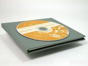 CD DVD fabric wrapped album cover packaging