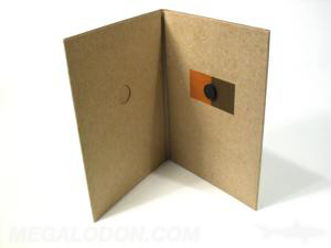 CD jacket magnet closure fiberboard stock