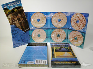 Multi disc CD DVD traypack set gatefold megatall slipcase 6disc diagonal pocket booklet