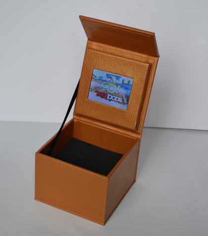 creative video box packaging leather wrap box