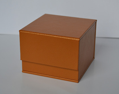 leather box video panel creative packaging