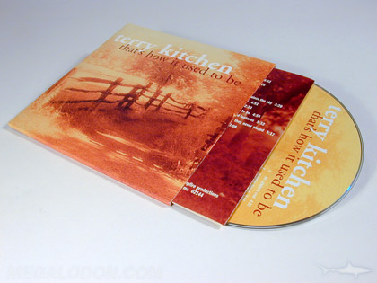 CD LP vintage look sepia tone printing