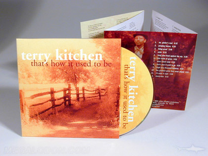 old fashioned cd jacket sepia tone printing