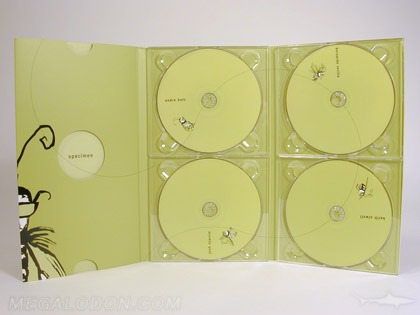 custom digipak multidisc 4dvd set die cut holes and slipcase spot gloss matte lamination