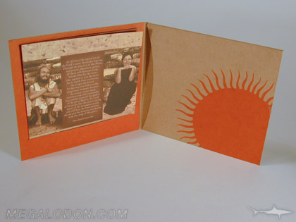 Kraft paper booklet and fiberboard cd jacket uncoated