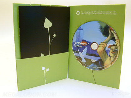 Eco dvd jacket with recycled paper packaging