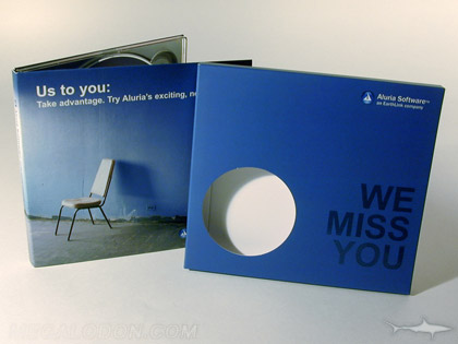 die cut circle in cd slipcase packaging