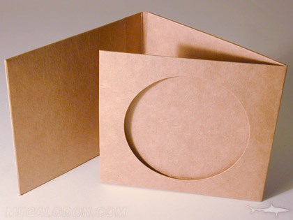 unprinted fiberboard disc jacket with die cut center hole