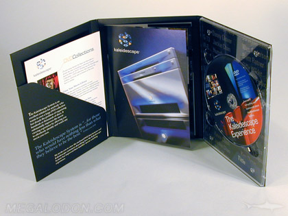 custom digipak reverse side printing 4C glued booklet and literature slot