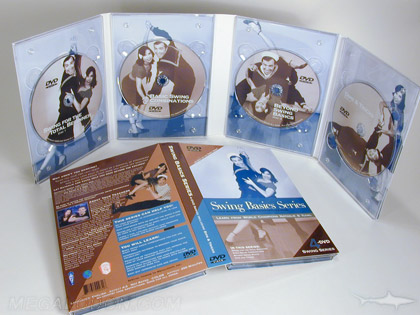 custom digipak copper metallic ink printing 4 dvd set