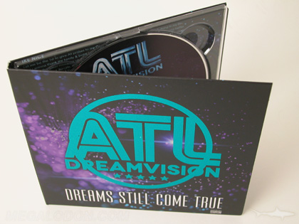 blue foil stamping printed packaging digipak