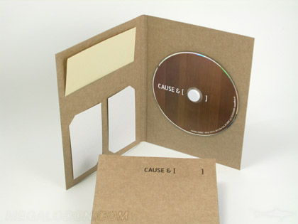 Eco friendly recycled cd dvd jacket packet packaging