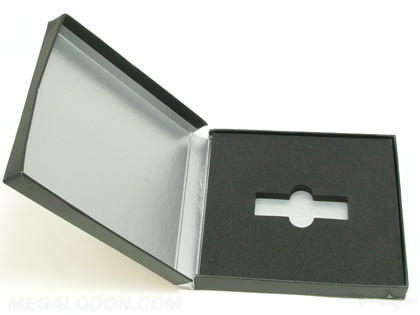 Custom USB Box Packaging Chipboard core metallic ink printing inside foam well for media